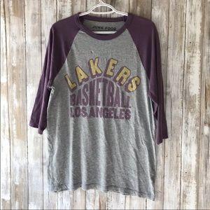 JunkFood LA Lakers Raglan Tee